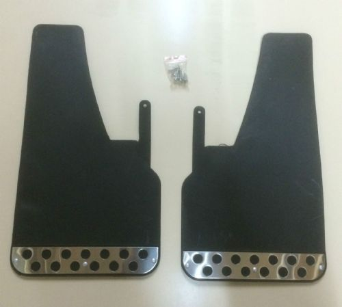 RALLY MUDFLAPS BLACK x2